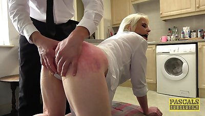 Blonde wife gets unlimited sex pleasures in scenes of submissive porn