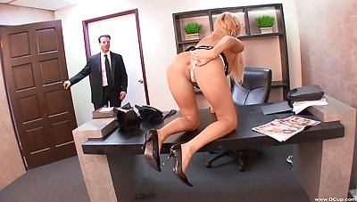 Kinky blonde Victoria White fucked hardcore in the office