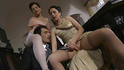 Lustful tarts exciting Italian porn scene