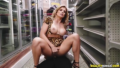 Seduces Into A Doggy Sex In The Shop - Van Wylde And Cory Woo