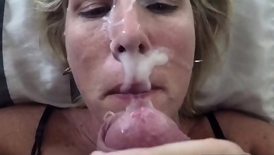 She is cocksure to wear my cum