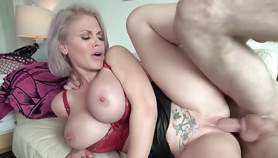 Big-Titted mom Uses Step Son For Sexual Release - Mature