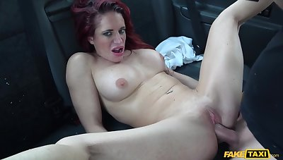 Horny taxi driver fucked redhead chubby mature Stacey