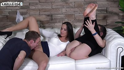 Outright nonstop pussy licking workout with a voracious nympho Mea Melone