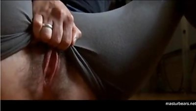 Ordinary ecumenical Zoey rubs huge swollen clit, fingering pussy involving 3 fingers