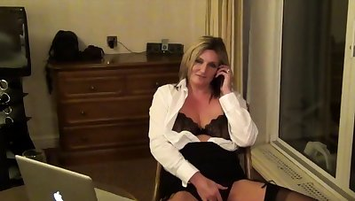 Secretary Sam adjacent to a Hotel Room