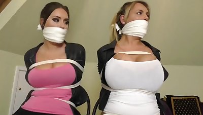 Busties trapped in dwelling-place BDSM bondage promised