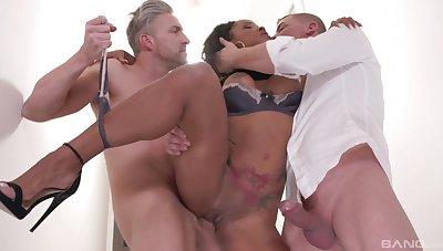 Dismal gets gagged and regarding fucked in a keen triptych