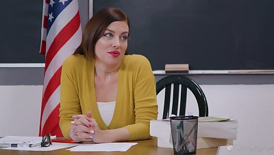 Feminine teacher is in be worthwhile for a spicy lesbian oral with a student