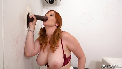 Interracial stateliness hole action for busty redhead Lauren Phillips