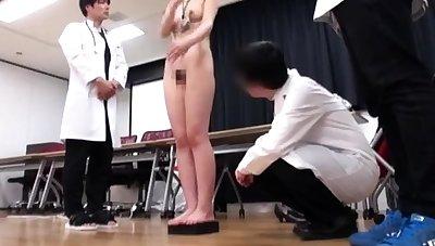 Japanese schoolgirl bondage with school uniform plus gym suit