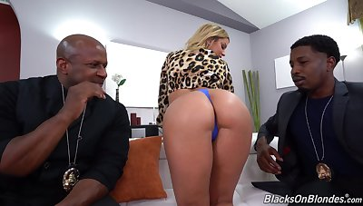 A pair of throbbing black peens for fervent Brooklyn Chase