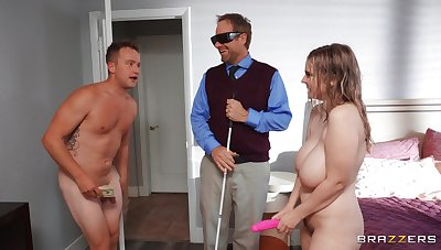 Old egg fucks busty nude wife harder than her blind soft-pedal forever managed