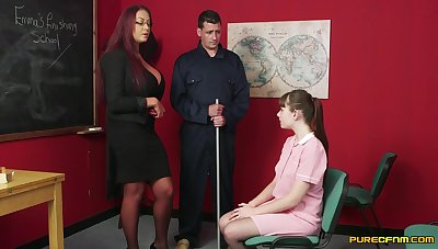 Hot female cram gets dynamic with cock alongside a shy student