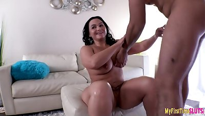 Chubby MILF Betty Saucy Gangbang